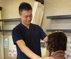岸和田市で頭痛の痛み施術2